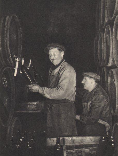 Associate Product BORDEAUX WINE. Mis en bouteilles comme dans le bon vieux temps 1949 old print