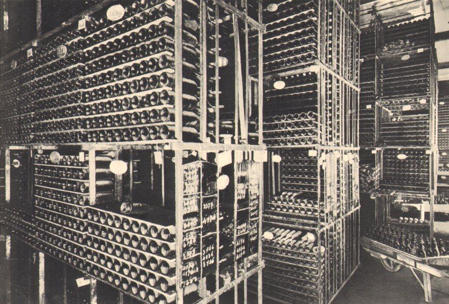 Associate Product BORDEAUX WINE. Caveau ou vieillissent les Grands Vins. Wines ageing. 1949