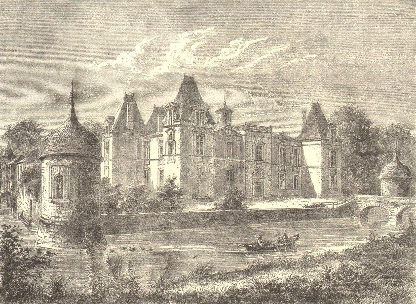 Associate Product BORDEAUX WINE. Chateau Louis XIII du Medoc 1949 old vintage print picture