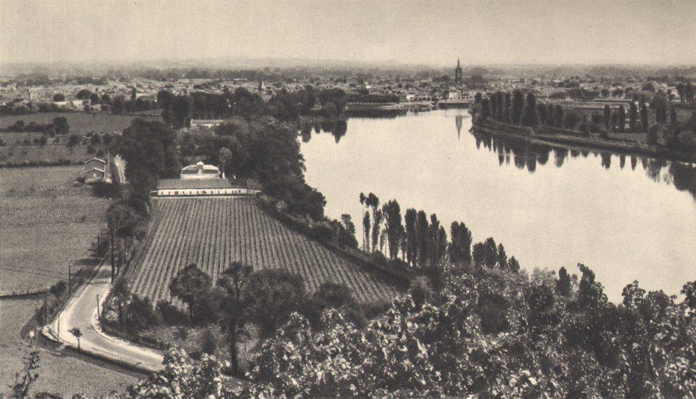 Associate Product BORDEAUX WINE. Vue Générale de Liborne 1949 old vintage print picture