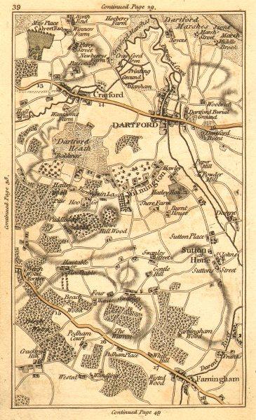Associate Product DARTFORD.Crayford,Bexley,Sutton at Hone,Farningham,Wilmington,Swanley 1786 map