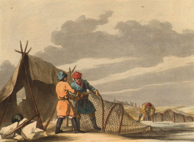 Associate Product FISHING. Russian Winter Fishery. Nets.  (Field Sports- Edward Orme)  1814