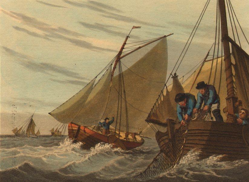 Associate Product ENGLISH CHANNEL. Mackerel- fishing boats.  (Field Sports- Edward Orme)  1814