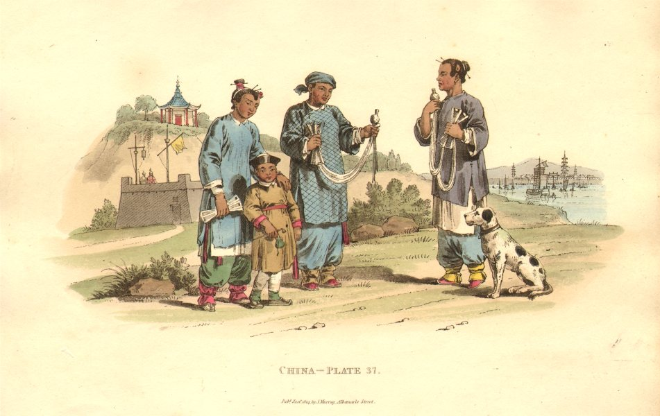 Associate Product CHINA. Female Peasant Women winding Cotton. ALEXANDER  1814 old antique print