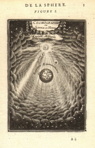 ASTRONOMY. 'Cosmographie ou Science du Monde'. Ethereal Elementary. MALLET 1683