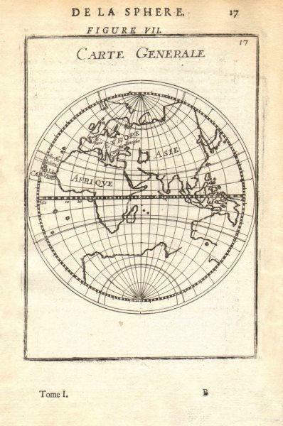 Associate Product EASTERN HEMISPHERE 'Carte Generale'. Australia coast incomplete. MALLET 1683 map