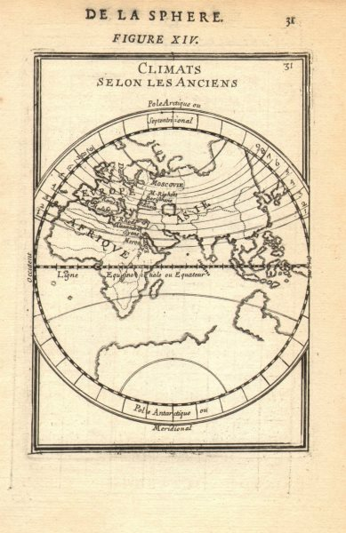 Associate Product EASTERN HEMISPHERE. Climatic regions according to the ancients. MALLET 1683 map