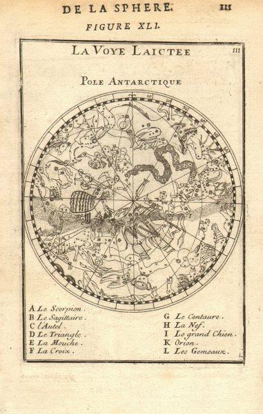 Associate Product STAR MAP La Voie Lactée-Pole Antarctique Milky Way Southern skies MALLET 1683