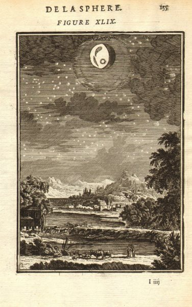 Associate Product VENUS. 'Venus'. View of the planet in the night sky. MALLET 1683 old print