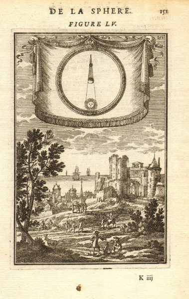 Associate Product LUNAR ECLIPSE. Astronomy. Eclipse of the Moon explained. MALLET 1683 old print