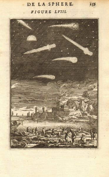Associate Product COMETS. their differing appearances according to the ancients. MALLET 1683