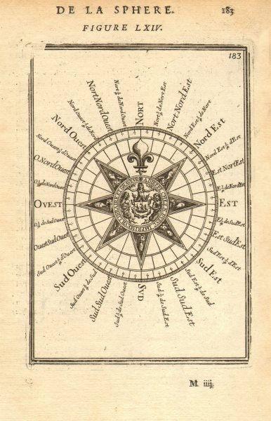 Associate Product NAVIGATION. Mariner's compass. Cardinal & intercardinal points. MALLET 1683