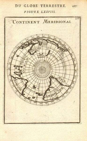 Associate Product SOUTHERN CONTINENT. Continent Meridional. Antarctic New Holland. MALLET 1683 map