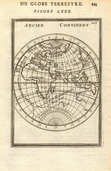 Associate Product EASTERN HEMISPHERE. Shows incomplete Australian coastline. MALLET 1683 old map