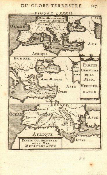 Associate Product MEDITERRANEAN. 'Mer Mediterranee Selon Les Anciens. MALLET 1683 old map