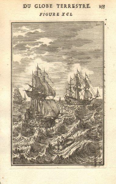 Associate Product SHIPS. Vaisseaux. 17th century. MALLET 1683 old antique vintage print picture