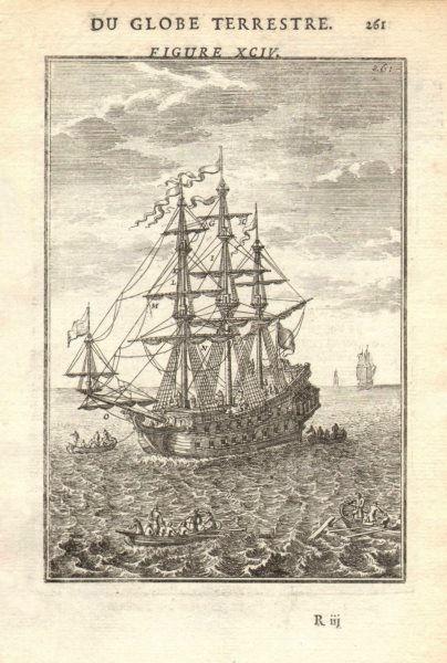 Associate Product SHIPS ROPES. Agreils/cordages d'un Vaisseau II. 17th century. MALLET 1683