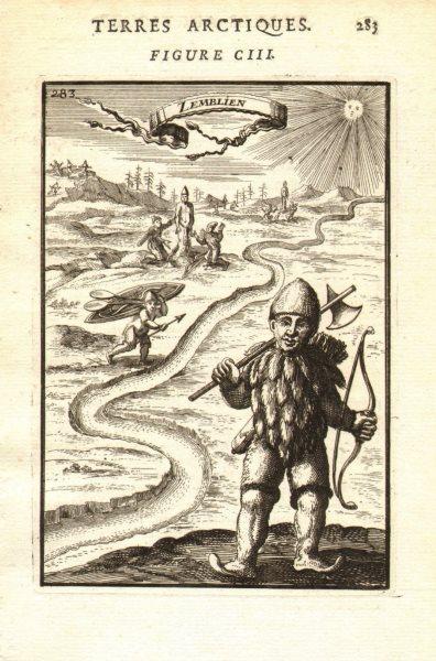 Associate Product RUSSIAN ARCTIC. 'Zemblien'. Nenet. Inhabitant of Vaygach Island. MALLET 1683