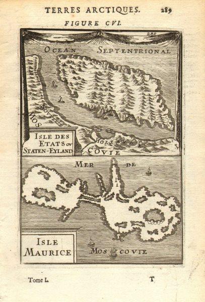 Associate Product RUSSIAN ARCTIC. Isle Etats (Ostrov Mestnyy) Isle Maurice (Dolgy Island) 1683 map