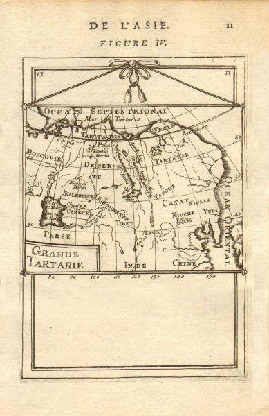 Associate Product GREAT TARTARY. 'Grande Tartarie'. Russia China N & Central Asia. MALLET 1683 map