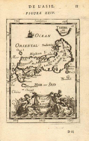 Associate Product JAPAN. 'Isles du Iapon'. Yedo (Tokyo) Miyako (Kyoto). MALLET 1683 old map