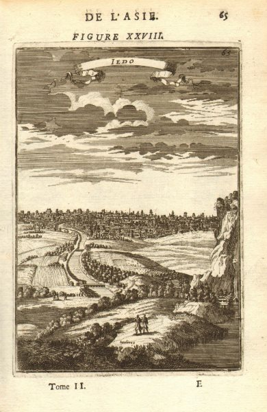 Associate Product TOKYO. View of the city of Yedo (Tokyo) 'Iedo' 東京. Japan. MALLET 1683 print
