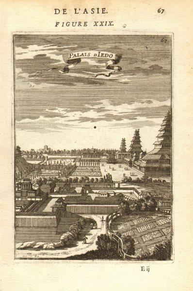 Associate Product TOKYO IMPERIAL PALACE. 'Palais d'Iedo' 皇居. Japan. Decorative. MALLET 1683