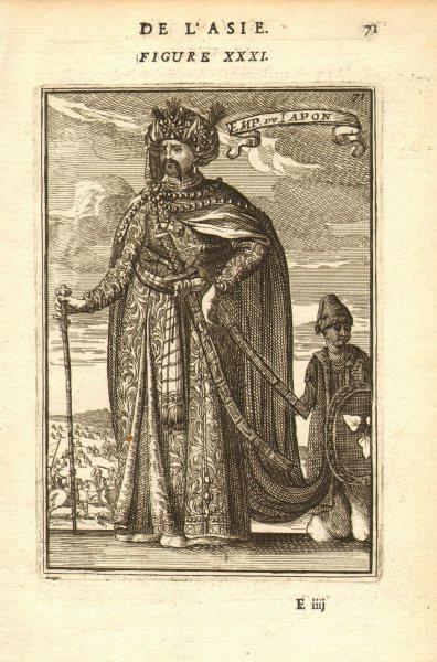 Associate Product JAPAN. Japanese Emperor. 'Emporeur du Iapon'. MALLET 1683 old antique print