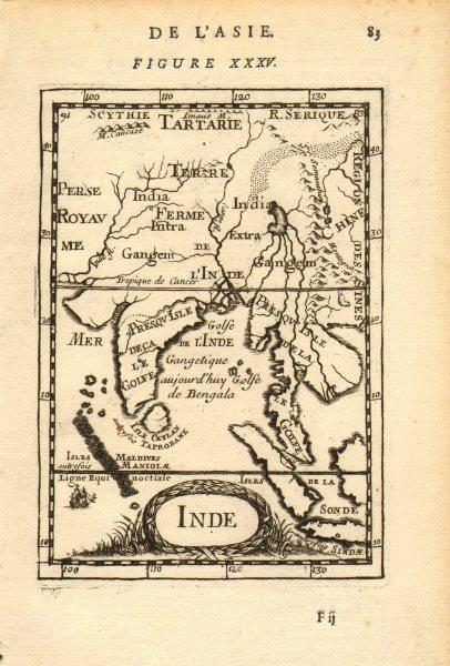 Associate Product SOUTH ASIA. India Ceylon Sri Lanka Indochina Maldives. 'Inde'. MALLET 1683 map