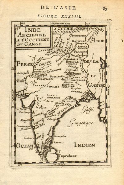 Associate Product ANCIENT INDIA. 'Inde Ancienne a l'Occident du Gange'. Tribes. MALLET 1683 map
