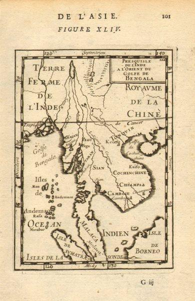 Associate Product INDOCHINA. Siam Cambodia Cochinchina Tonkin Burma Malaya. MALLET 1683 old map
