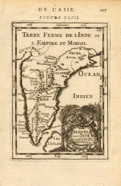 Associate Product INDIA. Moghul Mogul Mughal Empire. Goa Kochi Chaul &c. MALLET 1683 old map