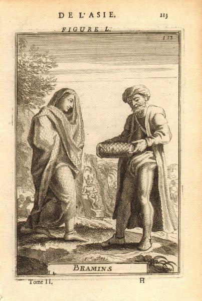 Associate Product BRAHMIN MAN & WOMAN Priest teacher caste. Hinduism India 'Bramins'. MALLET 1683