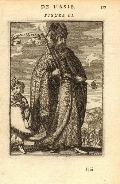 Associate Product MUGHAL EMPEROR AURANGZEB. Mogul Moghul Empire. 'Grand Mogol'. India. MALLET 1683