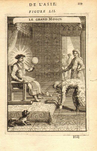 Associate Product INDIA. Mughal Emperor Aurangzeb. Moghul Empire. 'Le Grand Mogol'. MALLET 1683