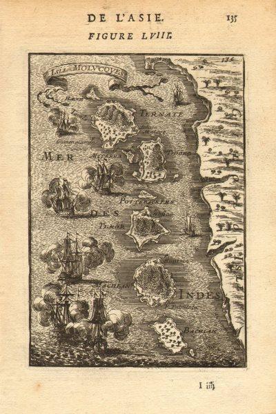 Associate Product NORTH MALUKU MOLUCCAS. Ternate Halmahera Tidore Makian Bacan. MALLET 1683 map