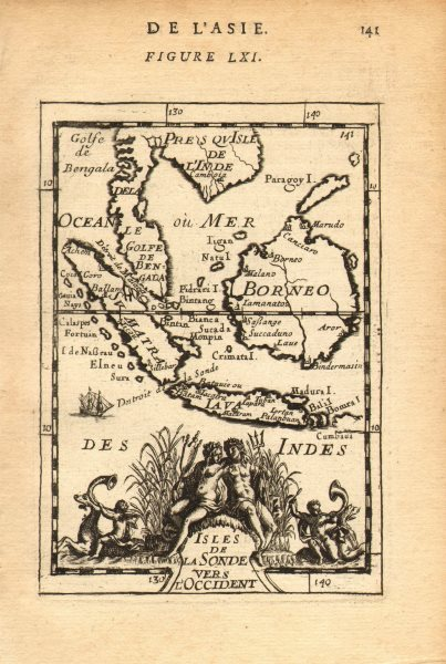Associate Product EAST INDIES. Sunda Sumatra Java Borneo Malaya. Indonesia. MALLET 1683 old map