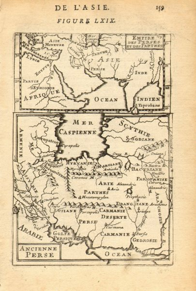 ANCIENT PERSIA (IRAN). and Empire of the Persians & Parthians. MALLET 1683 map