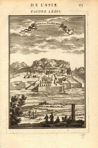 Associate Product PERSIA (IRAN). Ruines de Chehel Minar (Takht-e Jamshid). Ruins. MALLET 1683