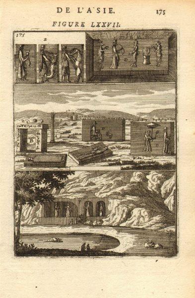 Associate Product PERSIA (IRAN). Ruines de Chehel Minar (Takht-e Jamshid) ; Ruins. MALLET 1683
