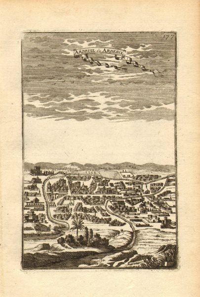 Associate Product PERSIA (IRAN). View of the town of Ardabil. 'Ardeuil ou Ardebil'. MALLET 1683