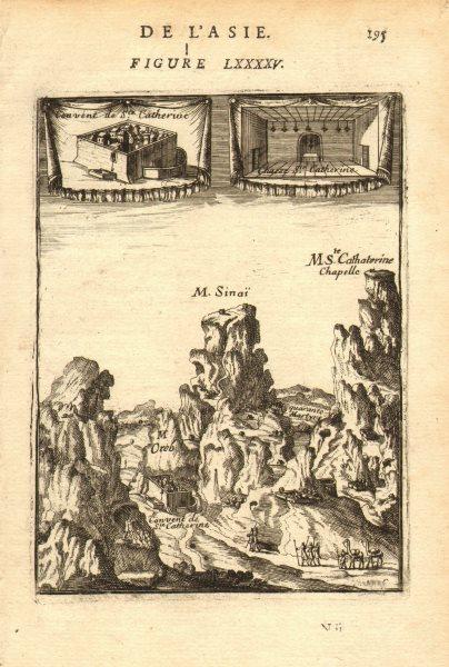 Associate Product EGYPT. Mount Sinai & Saint Catherine's Monastery (Santa Katarina). MALLET 1683