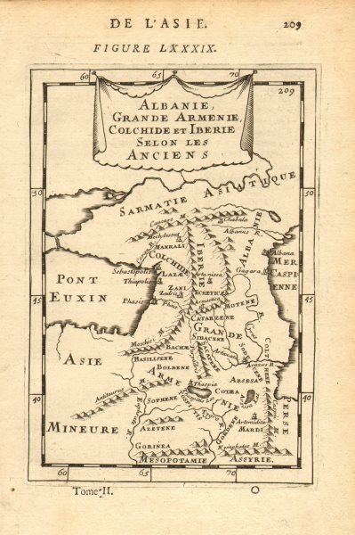 Associate Product CAUCASUS. Armenia Georgia Azerbaijan. Iberia Albania Colchis. MALLET 1683 map