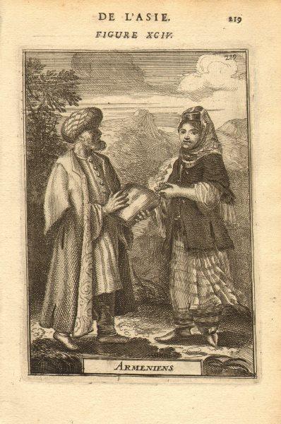 ARMENIAN COSTUME. 'Armeniens'. Man & woman in 17th century dress. MALLET 1683