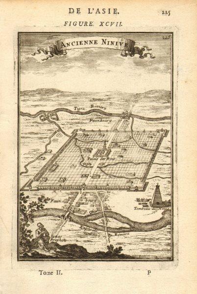 Associate Product NINEVEH. 'Ancienne Ninive'. Ninus Tomb. Tigris Euphrates. Assyria. MALLET 1683
