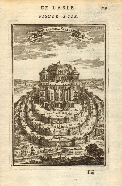 Associate Product BABYLON. 'Forteresse de Semiramis'. Fortress. Mesopotamia. MALLET 1683 print