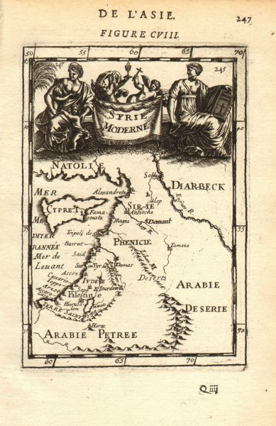 Associate Product LEVANT. 'Syrie Moderne'. Syria Palestine Cyrus Jordan Israel. MALLET 1683 map