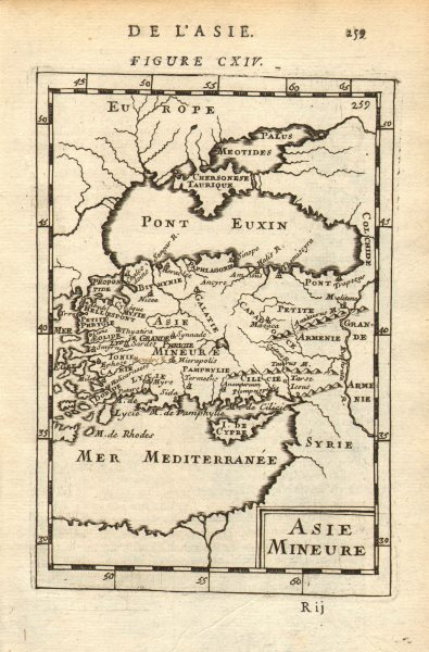 Associate Product ASIA MINOR. 'Asie Mineure'. Turkey. Ancient Anatolia. Black Sea. MALLET 1683 map