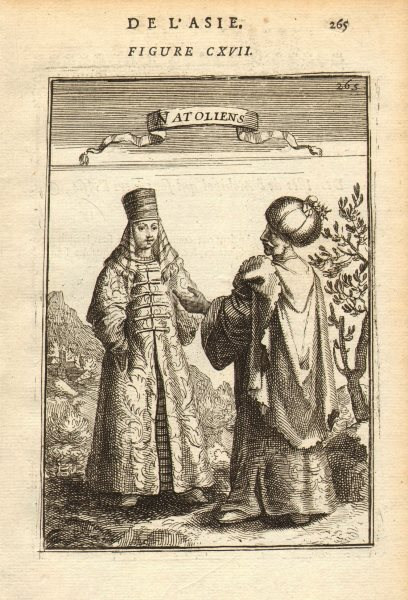 Associate Product TURKISH COSTUME. 'Natoliens'. Anatolians in traditional dress. MALLET 1683