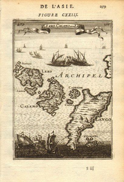 Associate Product DODECANESE Leros Calamo Kalymnos Kalimnos Lango Kos Pserimos. MALLET 1683 map